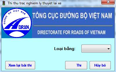 Phần mềm ôn thi lý thuyết lái xe ô tô 02