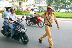 cảnh sát dùng phương tiện giao trong các trường hợp